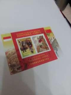 印尼聯合中國發行-舞龍舞獅小全張