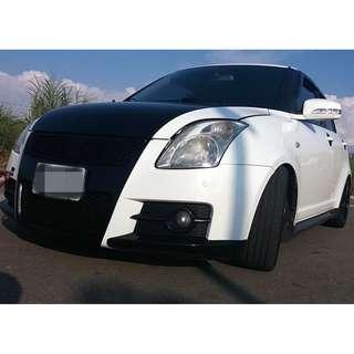 2007年 白 鈴木SWIFT T3包 全車系0元交車!!讓你不用任何現金把車開回家