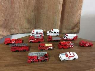 Tomica fire truck set