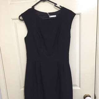 Black workwear dress