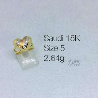 LADIES RING AUTHENTIC SAUDI GOLD
