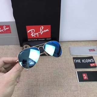 Rayban Sunglasses Rayban Sunglasses ray ban aviator flash lenses rb3025 58mm 62mm size polarized lenses $900 rayban brand new full packages original made in Italy