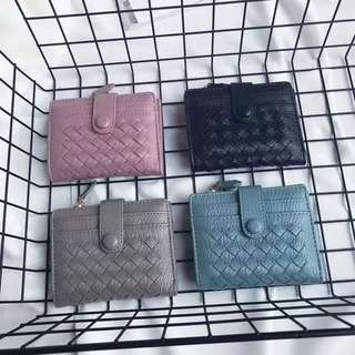 BV weave style wallet with coin pouch