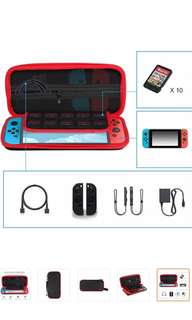 Nintendo switch casing with useful compartments