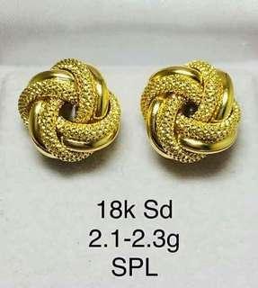Earrings AUTHENTIC SAUDI GOLD