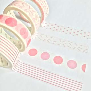 Washi Tape Sample - Colour Series Pink
