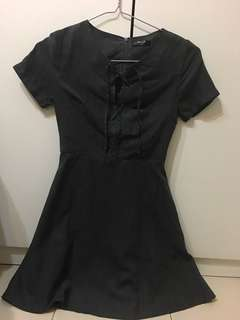 Dark Grey Velvet dress