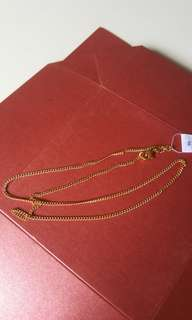 Stainless steel necklace ( gold-plated)