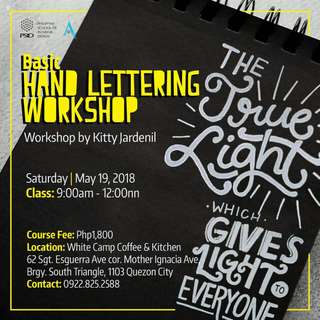Basic Hand Lettering Workshop by Kitty Jardenil
