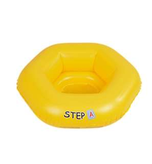 Inflatable floating seat