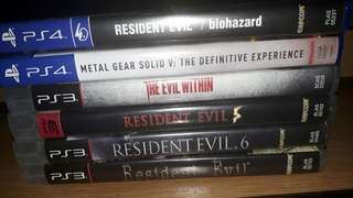 Games for PS3 and PS4