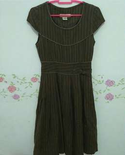 Dress vintage coklat