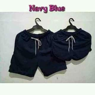 Navy blue couple short