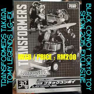 Transformers Takara Tomy Legends LG-EX Black Convoy Tokyo Toy Show 2015 Exclusive / Japan Takara Tomy Transformers Henkei Classic United Asia Exclusive Ultra Magnus