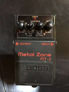 Boss MT-2 Metal Zone Guitar Effect Pedal w/ Box