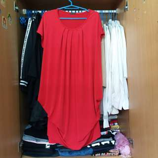 Plusize Red Blouse/Dress