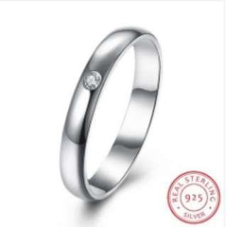 S925 Silver Diamond Ring