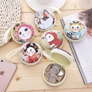 Cute cats coin purse/ usb cable pouches