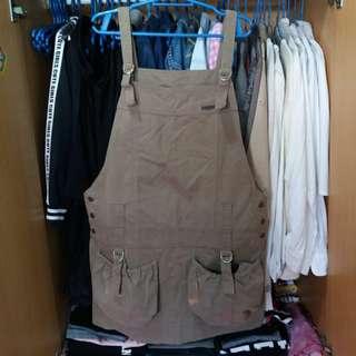 Lee Pipes Olive Green Jumper Dress