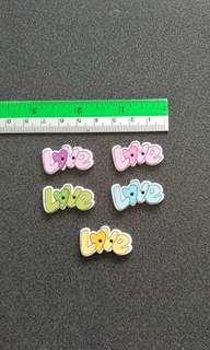 100 pcs Love Buttons