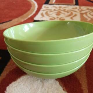 4 pcs green bowl tupperware