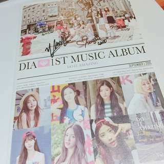 Dia 1st music album 'Do It Amazing' 全員親簽專輯