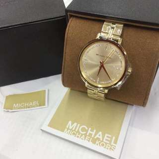 Authentic MK watch gold/rosegold