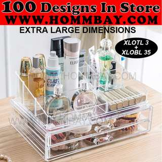 Clear Acrylic Transparent Make Up Makeup Cosmetic Jewellery Jewelry Organiser Organizer Drawer Storage Box Holder (XLOTL3 + XLOBL 35)
