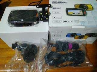 Car Camcorder front back one set