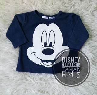 Baby Long Sleeve Shirts 0-3m fit to 6m