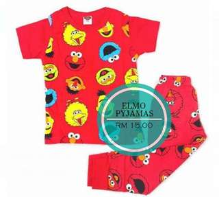 Elmo set pyjamas (size 2-8)