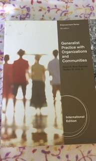 Generalist practice with organisations and communities