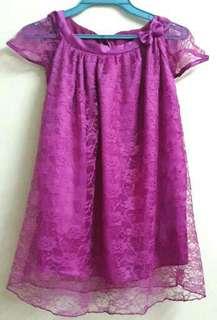 1 pc pink lace dress 4-5 yrs