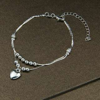 Heart Double Layer Bracelet/Anklet