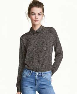 H&M Spotted Black Shirt
