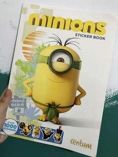 Minion sticker book