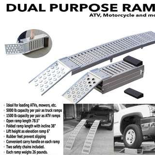 Dual Purpose Steel Ramp