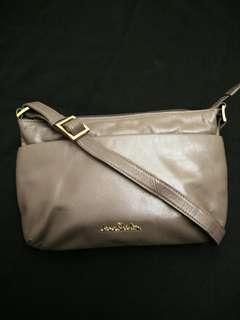 Auth Jane Shilton Genuine Leather H Bag