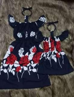 M&D CHOKER DRESS SET