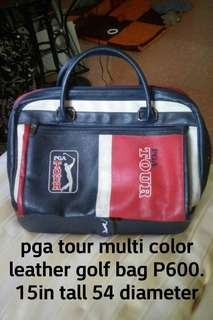 PGA LEATHER GOLF BAG