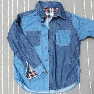 Uniqlo boys denim smart shirt