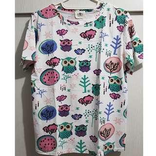 Printed owl shirt