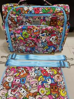 EEEEUC condition Tokipops BFF(PPP) with sporty pack strap and BNWT change pad