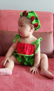 Cute baby outfit - watermelon