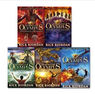 Fiction books (Heroes of Olympus)