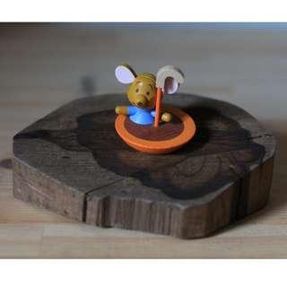Wooden Roo Figurine