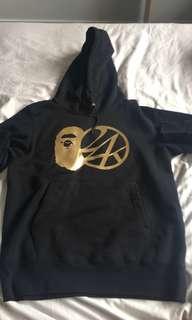 Size L Bape x 24 karat hoodie