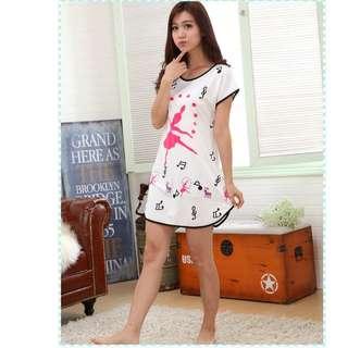 MuiMui Promotion Baju Tidur Polyester Pajamas Cartoon Nightdress Lady  M082