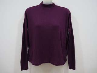 H&M Oversized Purple Longsleeve Knitted Top