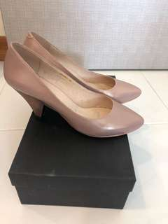 GG5 6cm Pink leather metallic heels